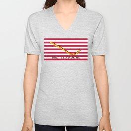 First Navy Jack of the United States of America flag Unisex V-Neck
