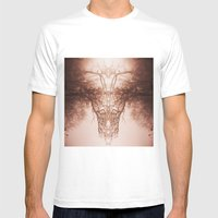 branches#02 White MEDIUM Mens Fitted Tee