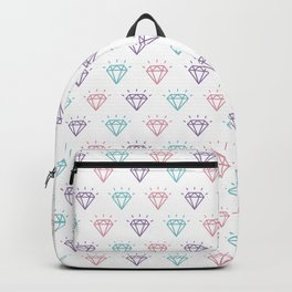 Colourful Diamond Pattern Backpack