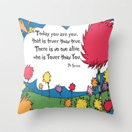 Lorax Quote Throw Pillow
