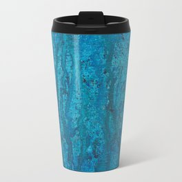 blue spheres and tears VI left side Travel Mug