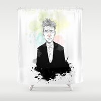 lynch Shower Curtains featuring David Lynch by suPmön