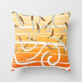 The dance of the fishes Throw Pillow