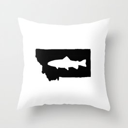 Hyalife Trout Montana  Throw Pillow