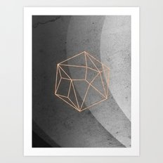 Geometric Solids on Marble Art Print