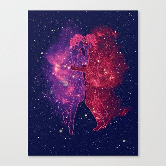 Universes Collide Canvas Print