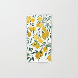 yellow lemon watercolor 2020 Hand & Bath Towel