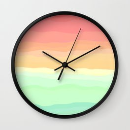 Ice Cream Pastel Rainbow Wall Clock