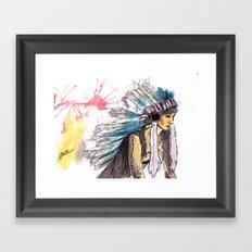 Young Warrior Dreams Framed Art Print