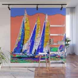 Yachts Racing Wall Mural