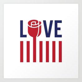 Love not hate Art Print