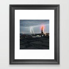 Luminous Discharge Framed Art Print