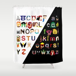 Marvelphabet Shower Curtain