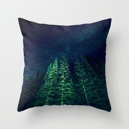 Star Signal - Nature Photography Throw Pillow