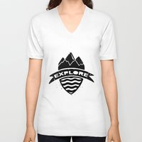 explore V-neck T-shirts featuring Explore  by Dylan Morang