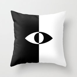 Eye - in a black has a white And in a white has a black Throw Pillow