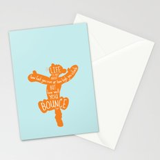 Life is about ... How Well You Bounce - Winnie the Pooh / Tigger inspired Print Stationery Cards