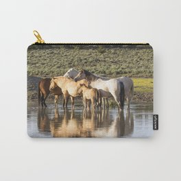 Reflection of a Mustang Family Carry-All Pouch