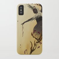 crane iPhone & iPod Cases featuring Crane  by Devon Busby Busbyart