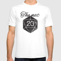 The Nat 20's Mens Fitted Tee White SMALL