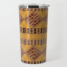 Ethnic african geometric pattern Travel Mug