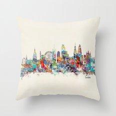 london city skyline Throw Pillow