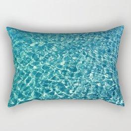 Clear water blue Rectangular Pillow