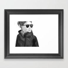 Shades (B&W) Framed Art Print
