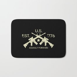 M4 Assault Rifles - U.S. Est. 1776 Bath Mat
