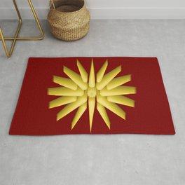 Macedonian Empire Flag Translation Frontal Vector Polar Star Rug