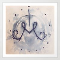 Marian Blue / Ebare Design / Art Print