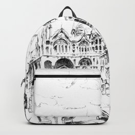 Sketch of San Marco Square in Venice Backpack