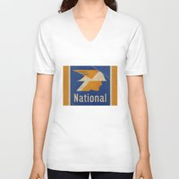 the national V-neck T-shirts featuring National Logo by Bruce Stanfield