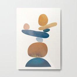 Balancing Stones 28 Metal Print