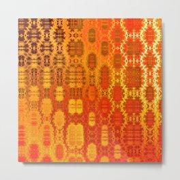 Martian Energies Pattern (bright orange) Metal Print