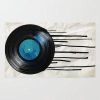 vinyl Area & Throw Rugs featuring vinyl drip by Vin Zzep