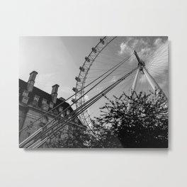London's Watchful Eye - B/W Version Metal Print