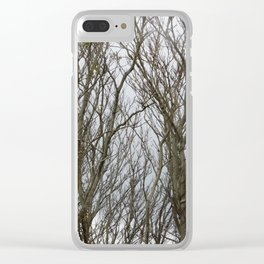 Twisted Trees Clear iPhone Case