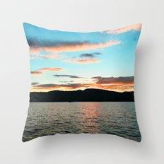 Lake George at Sunset Throw Pillow