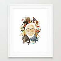miyazaki Framed Art Prints featuring Miyazaki-San by Danny Haas