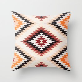Traditional Vintage Southwest Style Pattern iLLUSTRATION Throw Pillow