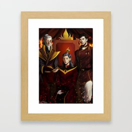 Fire Lords Framed Art Print