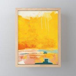 sunny landscape Framed Mini Art Print