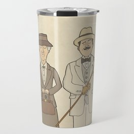 Marple and Poirot Travel Mug