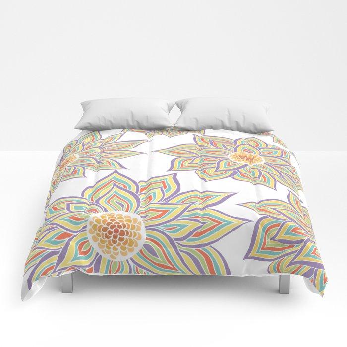 Floral Rhythm Comforters