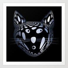 Bubble Cat Art Print