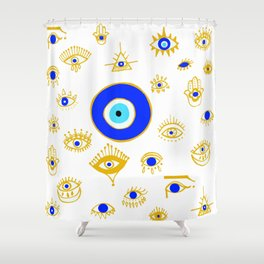evil eye Shower Curtain