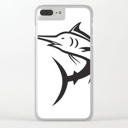 Blue Marlin Icon Clear iPhone Case
