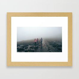 Hiking through rain, hail and shine. NSW, Australia. Framed Art Print