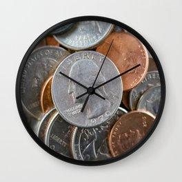 Coins Wall Clock